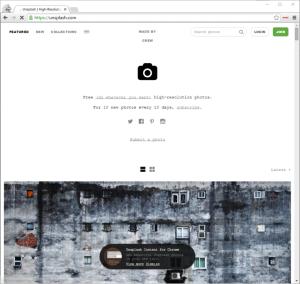 Schlankes Design und Endless Scrolling: Unsplash.com macht einen sehr künstlerischen Eindruck.